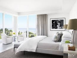 Modern White Bedroom with Black-and-White Photo | Luxe | Bedrooms in ...