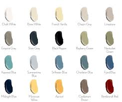 General Finishes Color Chart General Finishes Chalk Style Paint Color Chart