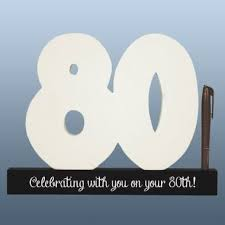80th birthday signature numbers