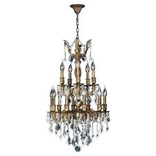 bronze and crystal chandeliers light antique bronze finish and clear crystal chandelier two 2 tier antique