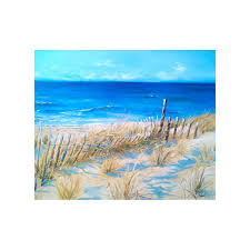 sandy neck oil painting of cape cod beach