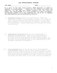 Autobiography Outline Example 7 Discover China Townsf