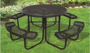 supersaverâ mercial round picnic table tnchfactory round plastic picnic table