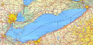 large detailed map of lake erie