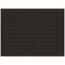 mohawk home utility bay brown rectangular door mat common 3 ft x 4