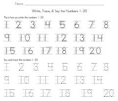 1-20 Number Tracing | Learning Printable