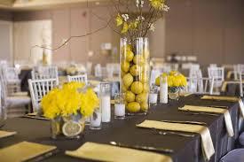 Wedding Decoration Ideas: Black And Yellow Wedding Decorations ...