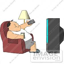 fat caucasian man watching tv clipart by djart royalty   13084 fat caucasian man watching tv clipart by djart