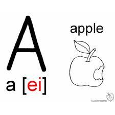 Disegno Di Lettera A Alfabeto Inglese Da Colorare Per Bambini