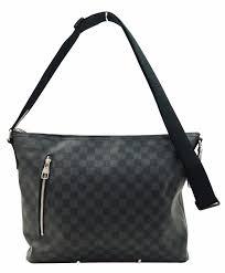 louis vuitton crossbody black. authentic louis vuitton damier graphite mick mm shoulder bag crossbody e1961 black i