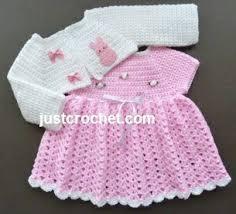 Free Crochet Patterns For Newborns Extraordinary Free baby crochet pattern dress and bolero usa Baby Dress