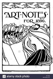 art notes for 1896 art nouveau book cover design by arthur maude of chelsea london line ilration 1897 studio magazine