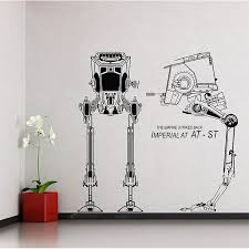 imperial at st star wars vinyl wall art decal wd 0417  on star wars wall art stickers with imperial tie fighter star wars vinyl wall art decal