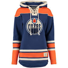 Lacer Hockey Royal Oilers Time Old Edmonton Hoodie Heavyweight Women's