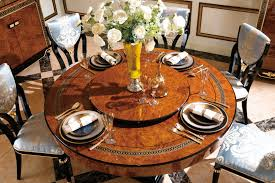 luxury italian style classical laura round dining table by bergamo