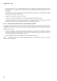 examples of skills 12 iso 19011 2011 guidelines for auditing is