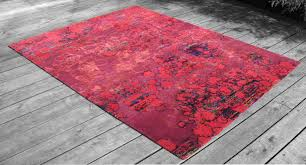 custom made recycled sari silk rug series