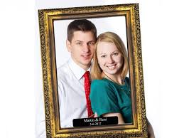 large personalized gold vintage wooden selfie frame social media photo frame wooden frame photo booth wedding photo booth 1001176