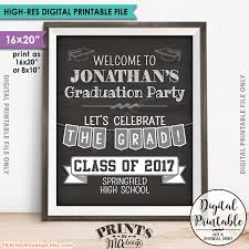 decorative chalkboards for various functions. Graduation Sign, Party Decorations, Welcome To The Grad Poster, 16x20\u201d Chalkboard Style Printable Decorative Chalkboards For Various Functions
