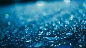 Water Droplets Background Water Drops On Glass After Rain Water Droplets On Glass In Blue
