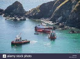 Peschereccio francese della Scuderia, arenarsi su La Lucertola in  Cornovaglia a Lankidden Cove, Bob Sharples/Alamy Foto stock - Alamy