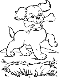 Small Picture Dog Bones Coloring Pages Cecilymae