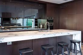 Kitchen Bench Tops Perth Arabescato Kitchen Bench Top With Stainless Steel Back Bench Tops