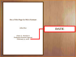 Collection Of Mla Format Cover Page Template 35 Images In Collection
