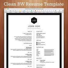 Clean Bw Resume Template