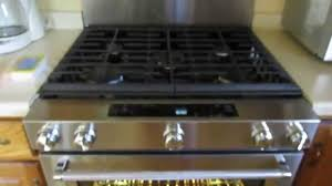 kitchenaid 30 in 5 8 cu ft slide in gas range with self cleaning convection oven ksgg700ess you