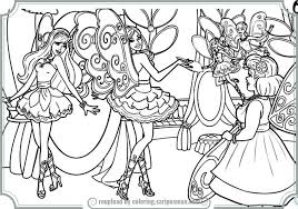 Small Picture Barbie A Fashion Fairytale Coloring Pages To Print Printable