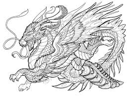 Mystical Dragon Coloring Pages