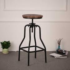 <b>iKayaa</b> Chair <b>Bar</b> Chairs <b>Metal Industrial</b> Stool Height Adjustable ...