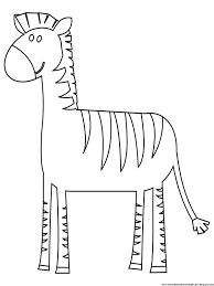 Small Picture Zebra Coloring Pages Free Printable Kids Coloring Pages