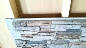 faux stone panels interior wall