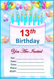 Free 13th Birthday Invitations 13th Birthday Invitations Template Metabots Co