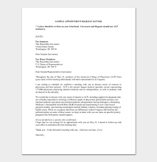 Appointment Request Letter 14 Letter Samples Formats