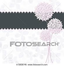 春 ピンク 紫色 アジサイ 花 グリーティングカード クリップアート切り張りイラスト絵画集