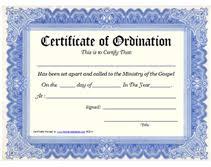 blank ordination certificates printable certificate of ordination places to visit printable