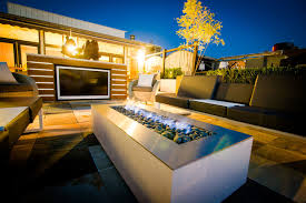 modern patio design with rectangular outdoor fireplace from stardust modern desi contemporary patio san francisco