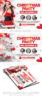 christmas party horizontal flyer template by louistwelve design christmas party horizontal flyer template holidays events