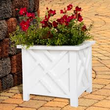 plant pot holder planter container box by pure garden white com
