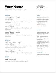 30 Google Docs Resume Templates Downloadable Pdfs Resume