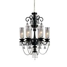 eurofase mariah collection 6 light black chandelier
