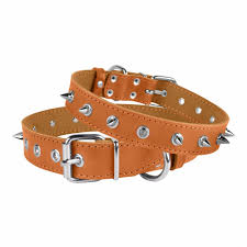 leather dog collar spiked collars for dogs and puppies small medium extra large
