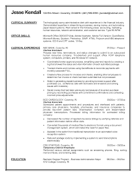 Examples Of Clerical Resumes Excellent Clerical Resume Summary Of Qualifications Gallery Entry 8