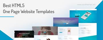Website Templates Best 28 Best HTML28 One Page Website Templates 2818 Revolthemes