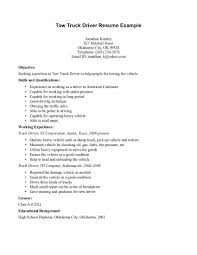 Driver Resume Objective Examples Examples Of Resumes
