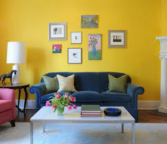 View in gallery Vibrant yellow living room