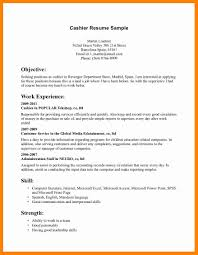 Sample Resume For A Cashier Bank Clerk Sample Resume Skills